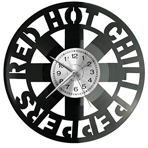WoD Red Hot Chili Peppers - Reloj de pared de vinilo, diseño retro