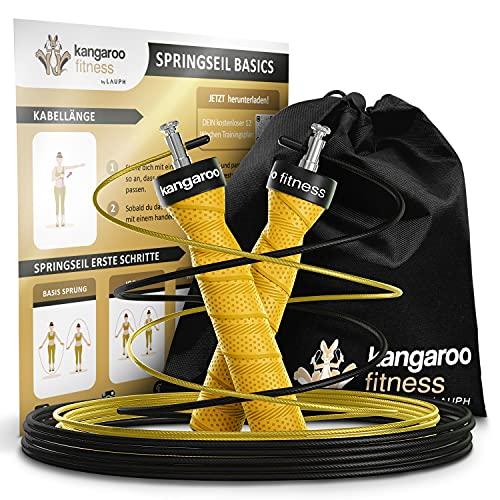 Kangaroo Fitness Springseil   Gewichtsverlust & Trainingsgerät für Zuhause   Ideales Sportgeschenk für Kinder & Erwachsene   Box-, Trainings- und Skipping-Set   Bonusseil, Tasche & Trainingsplan