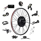 EBIKELING 48V 1500W 700C Direct Drive Waterproof Electric Bike Kit - Ebike Conversion Kit - Electric Bike Conversion Kit (Rear/LCD/Thumb)