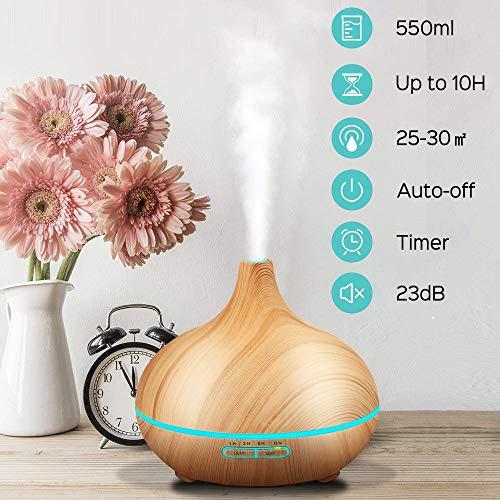 SaponinTree 550ML Humidificador Aromaterapia...