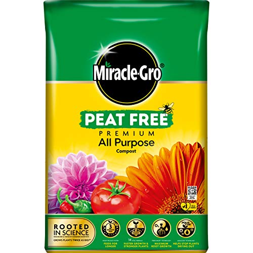 Miracle-Gro All Purpose Compost, PEAT FREE - 40 Litre BAG, (New 2021 Range)