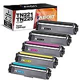 ABOIT Compatible TN221 Toner Cartridge Replacement for Brother TN221 TN225 TN-221 TN-225 for Brother HL-3140CW HL-3170CDW HL-3180 MFC-9130CW MFC-9330CDW MFC-9340CDW Printer (5 Pack)