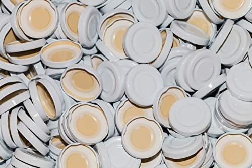 AE-GLAS 10-75 stuks twist-off-deksel TO43 mm sluiting wit voor glazen flessen melkflessen sapflessen