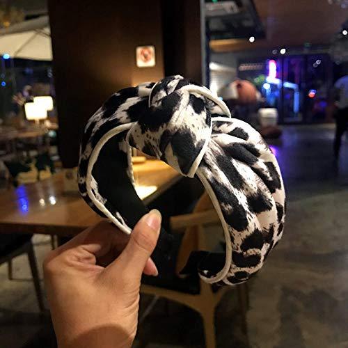 Weier. Ben Leopard geknoopte hoofdband eenvoudige Yisen vrouwelijke hoofdband haarband rand wassen hoofd sieraden vrouw