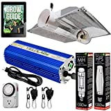 Yield Lab Horticulture 1000w HPS MH Grow Light Cool Tube Hood Reflector Kit Easy Setup Full Spectrum System for Indoor Plants and Hydroponics – Free Timer and 12 Week Grow Guide