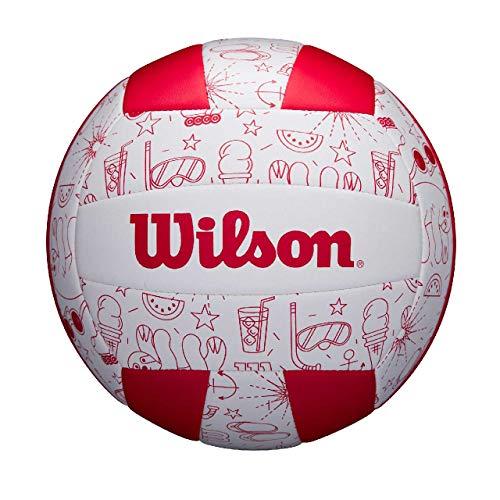 Wilson Volleyball SEASONAL, Für Außenutzung, Sommer-Motiv, rot, WTH10320XB