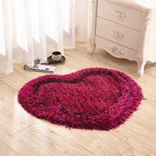 WLH- Hartvormige Vloermatten Dik Encryption Simple Modern Slaapkamer Tapijt Woonkamer Bedside Rug Deurmat Porch Deken (Color : Pink)