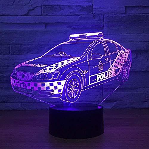Luz nocturna para niños Lámpara de estado de ánimo de luz de mesa de ilusión óptica 3D para coche, lámpara táctil de 7 colores para el hogar, decoración de fiesta, regalos de vacaciones para chico