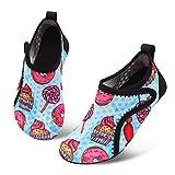 JIASUQI Light Swim Boating Water Shoes Beach Sandals for Kids Boys Girls Pink Lollipop US 9.5-10 M Toddler