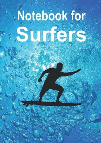 Big Notebook for Surfers: This beautiful big graph paper notebook with this magic underwater view and the surfer on its cover is designed for surfers ... divers, sailors etc. (Books for Surfers)
