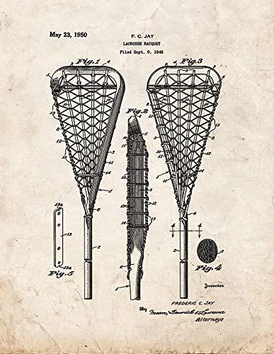 Lacrosse M11218 - Raqueta con estampado de patente (13 x 19 pulgadas)