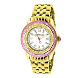 LUXURMAN Womens Diamond Watch 0.25ct Yellow Gold PLTD