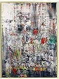 Impresiones de carteles de obras de arte moderno Rojo Verde Blanco Arte de pared abstracto Pinturas en lienzo Cuadro de pared contemporáneo Decoración de sala de estar Regalo 40x60cm Sin marco