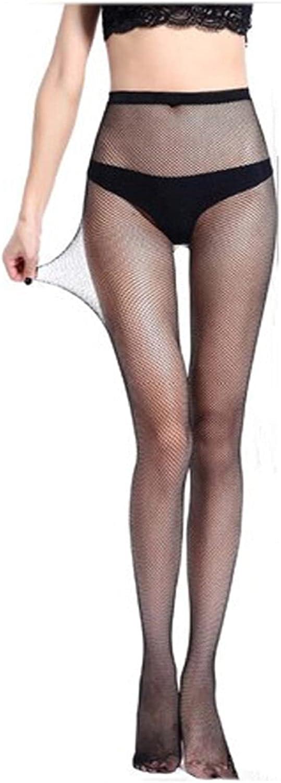 lkpoijuh Summer Mesh Stocking Transparent Slim Fishnet Pantyhose NetHoles Black Small/Middle/Big Mesh (Color : Orange, Size : One Size)