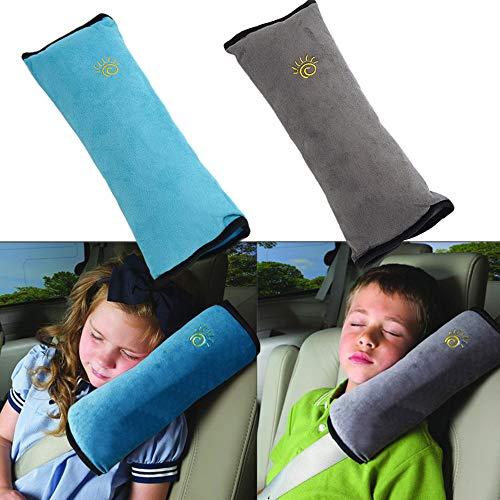 X-BLTU Almohadillas para Cinturón Coche Seguridad,Almohadillas Protectores de Hombro, Auto Almohada para Cinturón de Seguridad Soporte de la Cabeza Proteja Hombro para Niños Bebés Adultos