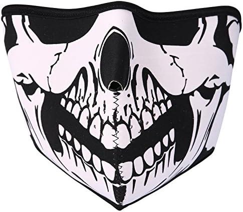 JewelryWe Neopren Biker Motorcycle Snowboard Skull Face Mask Balaclava Ski Mask product image