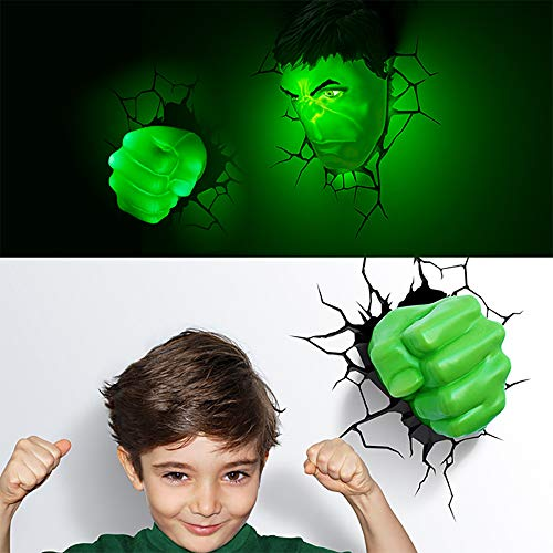 Wall Wash Light Marvel LED Appliques murales The Avengers Hulk Spiderman Applique Murale 3D Veilleuse de Chevet Hulk