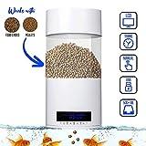 Gofun Mangeoire automatique pour poissons 2019 avec fonction mémoire et double alimentation pour aquarium, maison, bureau