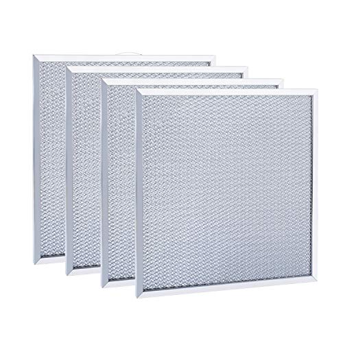 "99010316 Range Hood Filter, 11 1/4"" x 11 3/4"" x 3/8"" for compatible with Broan S99010316, WA65AF, BPQTAF, compatible with Kenmore Sears QT20000 Series Replacement Aluminum Grease Filter (4 Pack)"