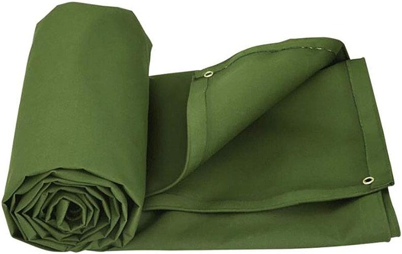 HWQN Bache de bache Toile résistante Toile imperméable à l'eau Anti-vieillissement Anti-vieillissement, 600g   m2, épaisseur 0.9mm, Multi-Taille en Option (Couleur   A, Taille   7  5m)