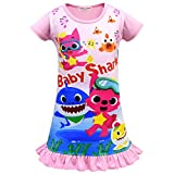 Baby Shark Girls Night Dress Nightie Red Pink Purple Color Pajamas 3-8Years (Pink, 3-4years)