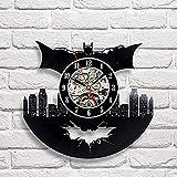 La Bella Casa Batman DC Comics Superhero Vinyl Wall Clock Happy Birthday Present for Fantasy Lovers Modern Gift for Teens Him Her