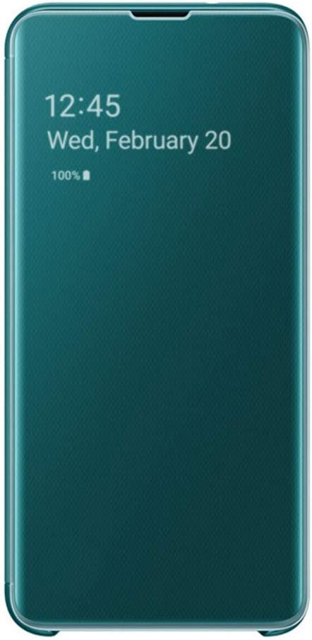 SAMSUNG Original Galaxy S10e Protective Clear View Folio Cover Case - Green