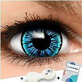 FUNZERA Mini Sclera Lentillas de Colores Angel + recipiente para lentes de contacto, sin...