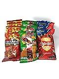 Sabritas Mexicanas Variety Pack (12 Small Bags) (4 Adobadas, 4 Rancheritos, 4 Ruffles Queso)