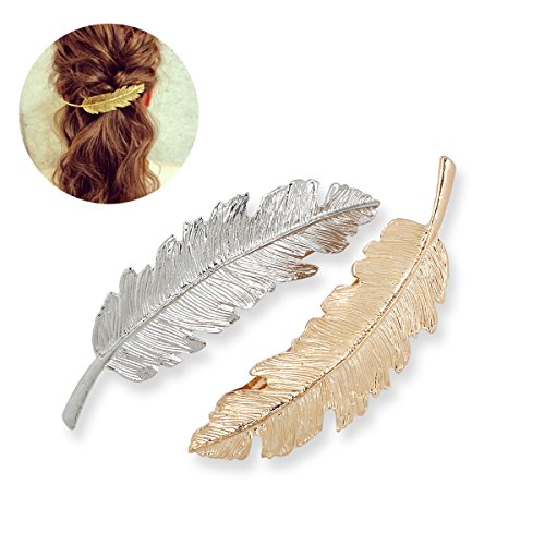 LEORX Horquillas pelo delicado Clip Pin garra accesorios broches tocado estilo joyería del pelo -2pcs