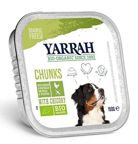 12X150 GR Yarrah dog alu brokjes kip/groente met cichorei in saus graanvrij hondenvoer