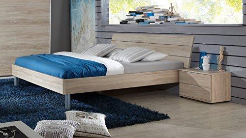 DEINE TANTE EMMA K27-290+K35-845 Easy Beds Eiche Sägerau Nb. Bett Kinderbett Jugendbett Gästebett Futonbett ca. 120 x 200 cm