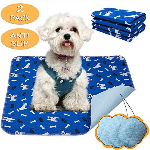 Yangbaga Tappetini Cane Lavabili 2pc Tappetini Igienici per Cani Gatto (39 * 58cm)