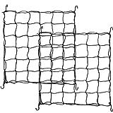 Shappy 2 Stück Flexibles Netz, Rankgitter für Pflanzenzelte, Wachstumszelt, elastisches Ranknetz mit Haken (2 x 2 Fuß bis 3 x 3 Fuß)