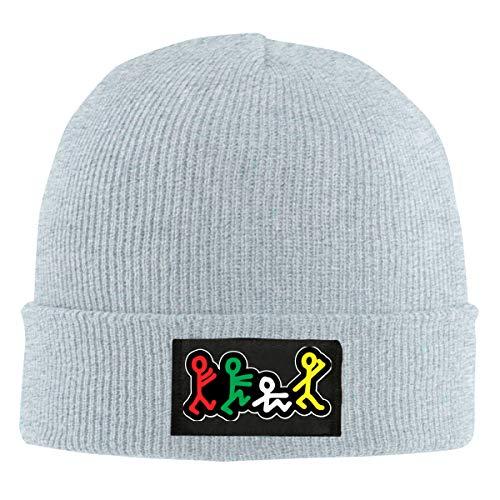A Tribe Called Quest Beanie Men Women - Unisex Cuffed Plain Skull Knit Hat Cap Gray