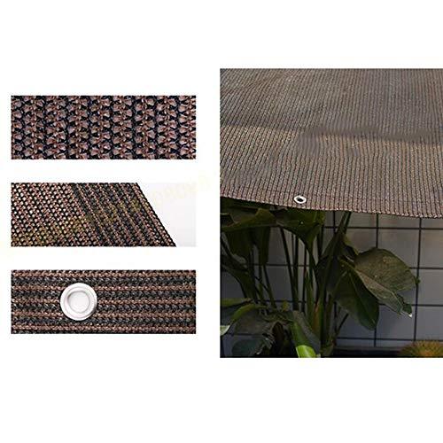 YS Paño de Protección Solar Multiusos para Exteriores 95% Borde con Cinta Marrón con Ojales para Cubierta de Plantas para Flores de Invernadero, Plantas, Césped de Patio,Marrón,13M