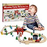 🚂 Exclusive City Train Set- Are you looking to impress your little one with a special birthday gift? Would you like for him to learn and develop his motor skills while having fun? This wooden train set is the perfect solution! This wooden train track...