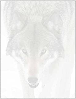 Wolf Face Stationery Letter Paper Wildlife Animal Theme Design Gift Business Office Party School Supplies