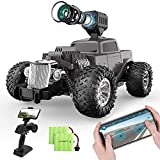 RC Cars DE53 Remote Control Car with 1080P HD FPV Camera, 1/16 Scale Off-Road Classic Truck, High Speed Monster Trucks with 2 Batteries for 60 Min Play, Gift for Boys and Girls