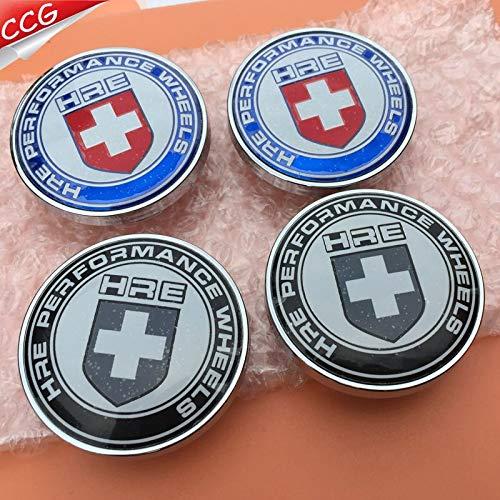4pcs 60mm HRE Performance Wheels logo car emblem Wheel Center Hub Cap Rim badge decoration covers styling - (Color Name: B)
