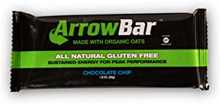 ArrowBar, Chocolate Chip Energy Bar, 1.6 oz, 12 count, Gluten Free, The Original Tennis Bar