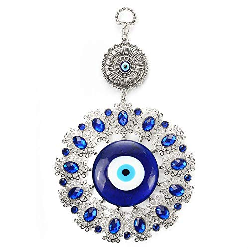 Turkey Evil Eye Wall-mounted Glass Keychain Ethnic Crystal Big Eyes Car Keychain Fashion Jewelry