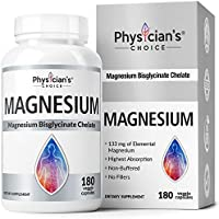 Physician's Choice Patented Bisglycinate Non Buffered Chelated Magnesium Supplement
