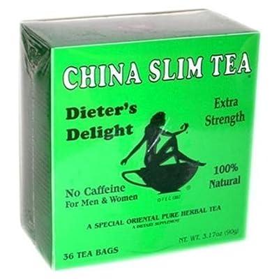 China Slim Tea Dieter's Delight 36 TEA BAGS NET WT 3.17 OZ (90 g) from Tea Pot Brand