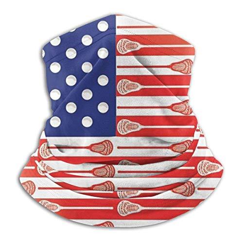 DFGHG Camping Wanderbekleidung Männer Hüte Kopfbedeckung Multifunktionale Kopfbedeckung Lacrosse American Flag Unisex Microfiber Neck Warmer Headwear Face Scarf Mask For Winter Cold Weather Mask Banda