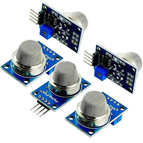 AZDelivery 5 x MQ-2 Gas Sensor Rauch Sensor Luftqualität Modul kompatibel mit Arduino inklusive Ebook!