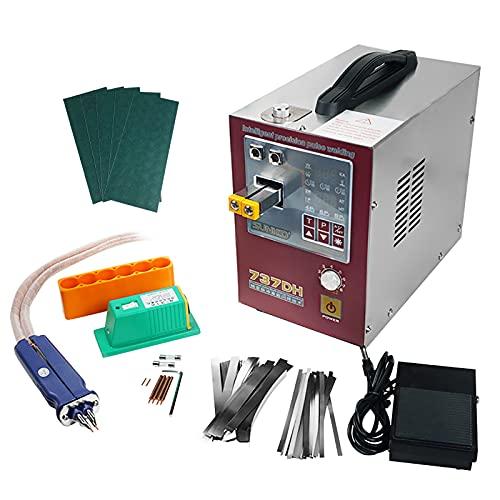 Keifen Equipo de soldadura a batería para soldador por puntos con bolígrafo de soldadura móvil Pedal de pie controlado o por inducción automática Función de soldadura por puntos con lapso de tiempo