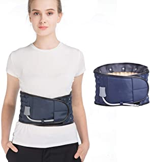 Lower Back Traction Dear-You Device Back Decompression Belt Lumbar Support for Back Pain Relief for Women Men One Size Fit...