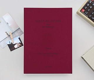 ICONIC Photo in - Spring Photo Album - Album de Photos Slip in Photo Album (4 x 6 inches, Burgundy)