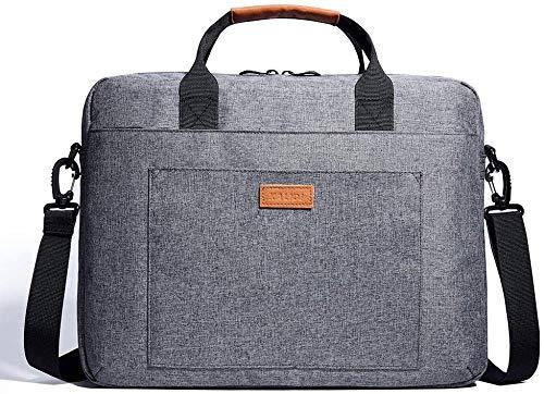 KALIDI 17 Inch Laptop Messenger Bag Laptop Shoulder Bag Briefcase Handle Carrying Case for Alienware Macbook Thinkpad Acer ASUS Dell Lenovo,Black